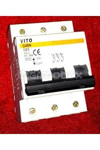 Выключатель автоматический Vito 63А, 3-х фазный, 400В Титан