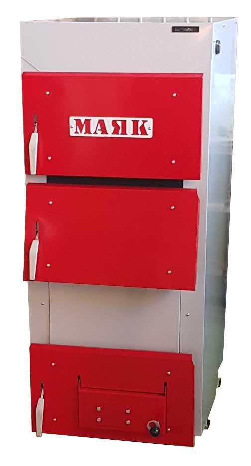 Котел твердотопливный стальной Маяк АОТ-30 стандарт плюс сталь 6 мм