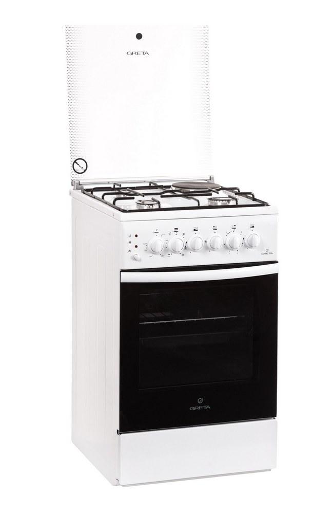 Плита комбинированная Greta 1470-ГЭ исп 00 белая (ЭлДух, 3 газ, 1эл, элРозжиг)