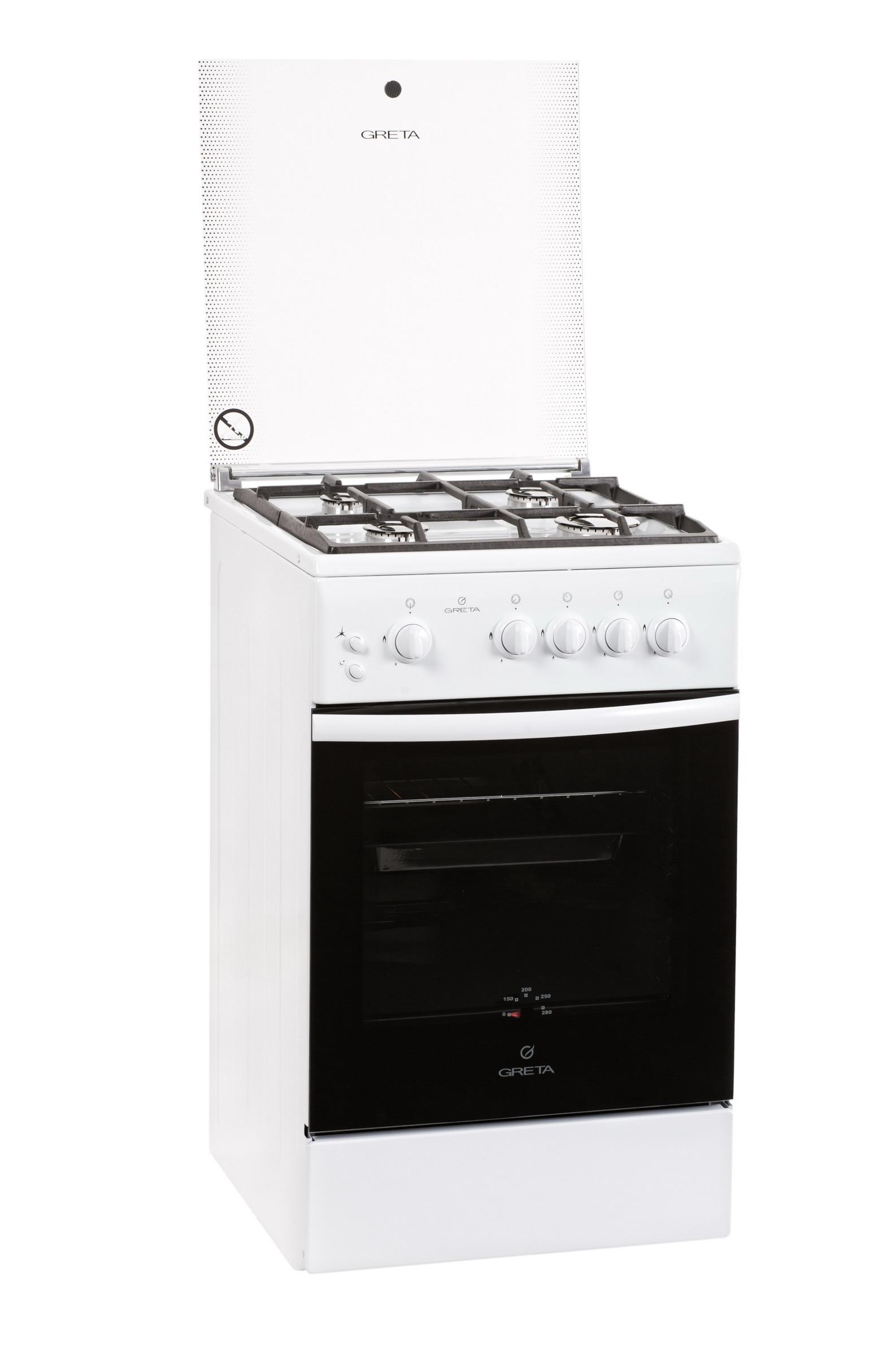 Плита газовая Greta 1470-00 исп 07 белая