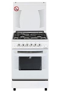 Плита газо-электрическая Fresh Fire 55х55 белая (3 газ + 1 эл, газДух)