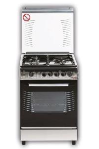 Плита газо-электрическая Fresh Fire 55х55 нержавейка (3 газ + 1 эл, элДух)