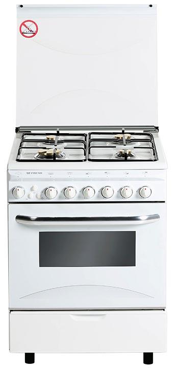 Плита газо-электрическая Fresh Italiano 60х60 белая (3 газ + 1 эл, элДух)