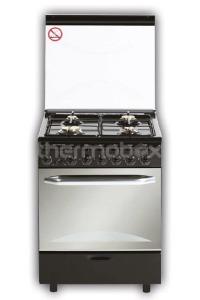 Плита газо-электрическая Fresh Italiano 60х60 черная (3 газ + 1 эл, элДух)