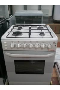Плита газовая Fresh Forno 55х55 белая (подсветка, розжиг, гриль)