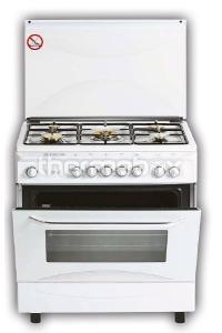 Плита газовая Fresh Italiano 55х80 белая (подсветка, розжиг, гриль)