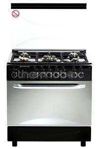 Плита газовая Fresh Italiano 55х80 черная, стол нерж (подсветка, розжиг, гриль)