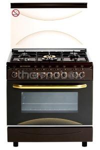Плита газовая Fresh Italiano 55х80 коричневая (подсветка, розжиг, гриль)