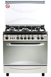 Плита газовая Fresh Italiano 55х80 нержавейка (подсветка, розжиг, гриль)