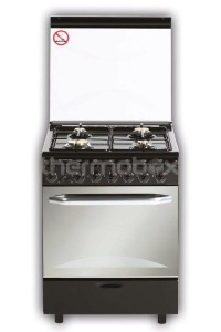 Плита газовая Fresh Italiano 60х60 черная (подсветка, розжиг, гриль)