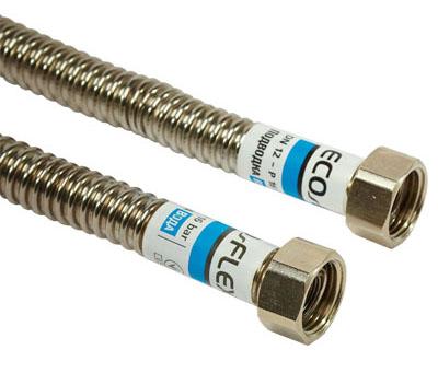Шланг сталь. для воды 1/2 вв 0,8м. EcoFlex