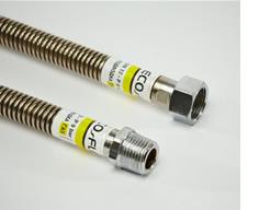 Шланг сталь. газ 1/2 нв 0,4м. EcoFlex