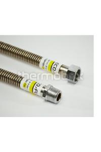 Шланг сталь. газ 1/2 вв 0,8м. EcoFlex