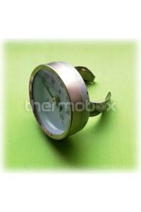 Термометр круглый диапозон 0-120 С накладной на скобе