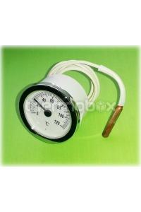 Термометр круглый ф 52 мм, диапозон 0-120 С, капиляр 1000 мм, эл ф 6,5 х 15 мм СТ-52