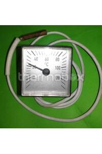Термометр квадратний 45х45 мм 0/120°C 1000 мм Титан