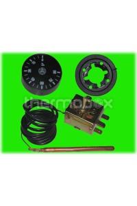 Термостат регулируемый 30-90С, 700 мм, 16А, 250В